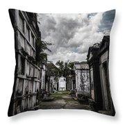 Cemetery Row Throw Pillow