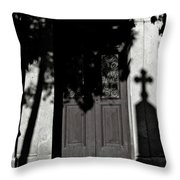 Cemetery Shadow Throw Pillow
