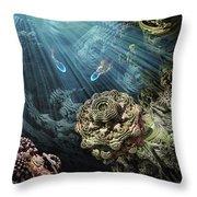 Cenote Throw Pillow