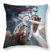 Centaur Joust Throw Pillow