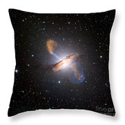 Centaurus A Black Hole Throw Pillow