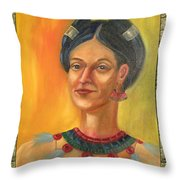 Centehua Illustration Throw Pillow by Lilibeth Andre