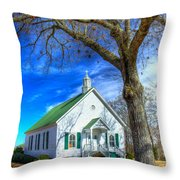 Centennial Christian Church Rural Greene County Georgia Throw Pillow
