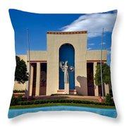 Centennial Hall At Fair Park - Dallas Throw Pillow