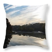 Centennial Lake Autumn - Great View From The Bridge Throw Pillow