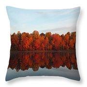 Centennial Lake Autumn - In Full Autumn Bloom Throw Pillow