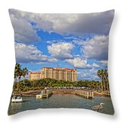 Centennial Park Boat Ramp Throw Pillow