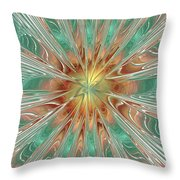 Center Hot Energetic Explosion Throw Pillow