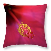 Center Of Attention - Hibiscus 01 Throw Pillow