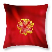 Center Of The Hibiscus Universe Throw Pillow