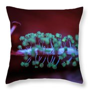 Center Of The Hibiscus World Throw Pillow