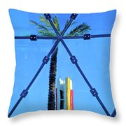 Center Of The Palm Throw Pillow