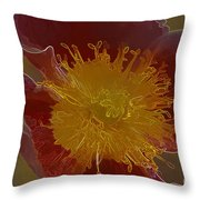 Center Of Yellow Throw Pillow