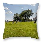 Center Ridge Cemetery Throw Pillow