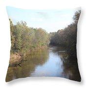 Center River Throw Pillow