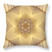 Center Star-flower Throw Pillow
