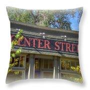 Center Street Cafe Sign Throw Pillow