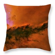 Center - Triptych - Stellar Spire In The Eagle Nebula Throw Pillow
