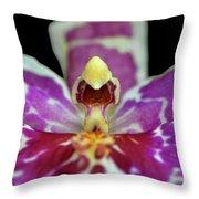 Centerpiece - Purple Orchid Macro Throw Pillow