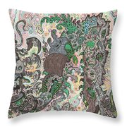 Centipede In Timeshift Throw Pillow