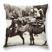 Central Asian Travelers Throw Pillow