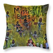 Central B B Q # 3- Memphis Throw Pillow