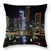 Central Business District, Singapore Throw Pillow