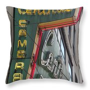 Central Camera Throw Pillow