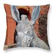 Central City Courthouse Donkey Throw Pillow