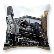Central City Locomotive Throw Pillow