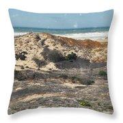 Central Coast Sand Dunes Throw Pillow