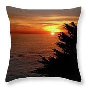 Central Coast Sunset Throw Pillow