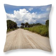 Central Florida Back Road Throw Pillow