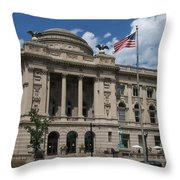 Central Library Milwaukee Throw Pillow