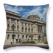 Central Library Milwaukee Full View Throw Pillow