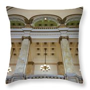 Central Library Milwaukee Interior Throw Pillow