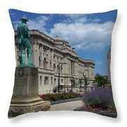 Central Library Milwaukee Street View Throw Pillow