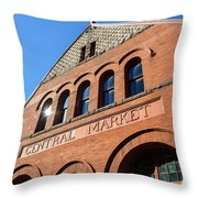 Central Market Lancaster Pennsylvania Throw Pillow