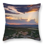 Central New Mexico Sunset Throw Pillow