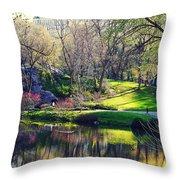 Central Park Colors Throw Pillow