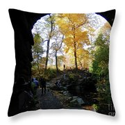 Central Park North Woods In The Fall Throw Pillow