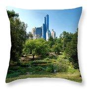 Central Park Ny Throw Pillow