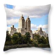 Central Park Reservoir  Throw Pillow