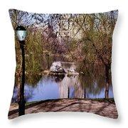 Central Park Sidewalk Throw Pillow