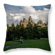 Central Park Skies Throw Pillow