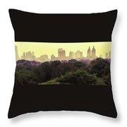 Central Park Skyline Throw Pillow
