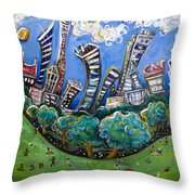Central Park South Throw Pillow