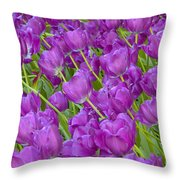 Central Park Spring-purple Tulips Throw Pillow