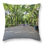 Central Park The Mall Throw Pillow