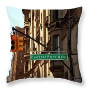 Central Park West Throw Pillow